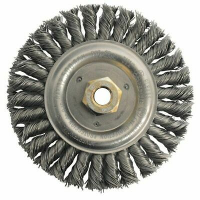 "WEILER 79814 6"" Stainless Wheel Brush 0.023"" Bristle Dia. 5/8""-11 Arbor (5pk)"