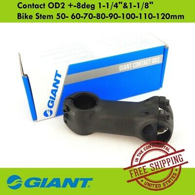 """-8deg Vorbau1-1//4/""""/&1-1//8/"""" spacer 60-70-80-90-100-110-120mm GIANT Contact OD2"""