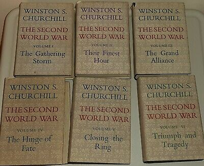 The Second World War By Winston S Churchill Volumes 1-6 By Cassell