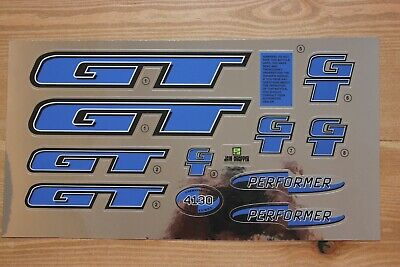 Chrome Backing Reproduction 2000 GT Performer BMX Decal Set
