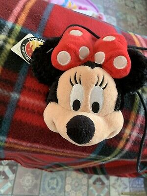 Disney Parks Minnie Mouse Plush coin Purse with clasp Bnwt