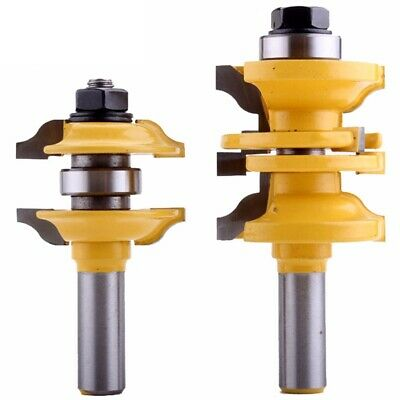 2X(2Pcs 12mm Shank Entry & Interior Door Ogee Router Bit Matched Milling Cu M5F5