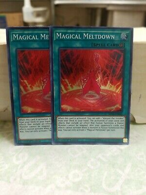 MINT//NM *** 3X MAGICAL MELTDOWN 3X *** PLAYSET SUPER RARE SHVA-EN042 YUGIOH!