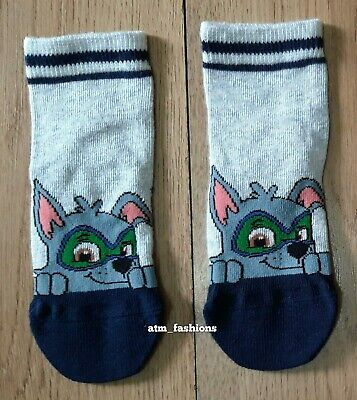 Squidward Tentacles Shoe Liner Ankle Socks Kids Boys Gift New 3-6 Years