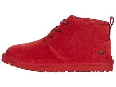 UGG NEUMEL SAMBRA RED Men's Suede Low Chukka Boots  3236