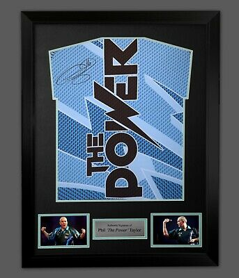 B Phil Taylor Hand Signed Darts Shirt