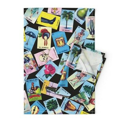 """Mexican Lottery Loteria 50/"""" Wide Curtain Panel by Roostery"""