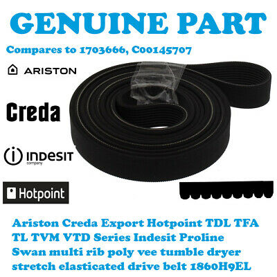GENUINE INDESIT IS60 IS60V IS60VS Tumble Dryer Belt......1st CLASS POST