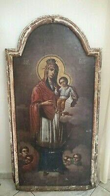 Antique Russian Large Icon Mother of God 19th century.
