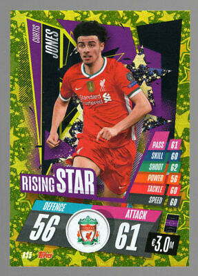 Curtis jones liverpool, Rising Star Topps match coronó liga de campeones 20 21