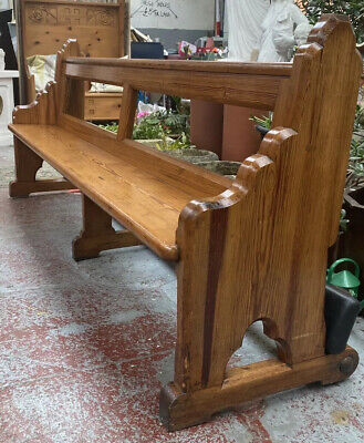 Victorian Church Pew With Kneeling Rest 1880's-1900's 7 & 1/2 Feet Long Antique