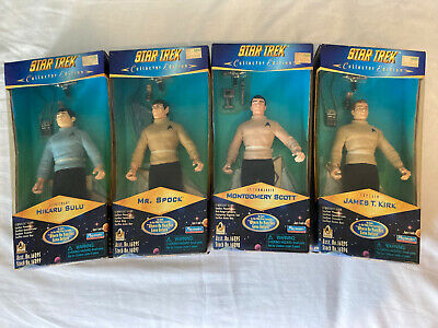 Playmates Toys Star Trek Collector Edition Complete Set, Spock, Cpt Kirk, Sulu