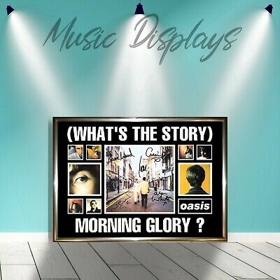 Oasis (Whats The Story Morning Glory POSTER) Signed Framed Gold Vinyl Cd Display