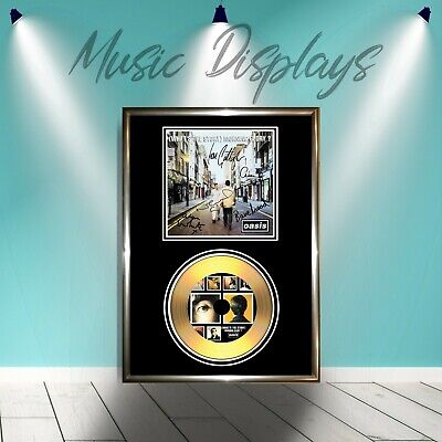 Oasis (What`s The Story Morning Glory) Signed Framed Gold Vinyl Cd Display