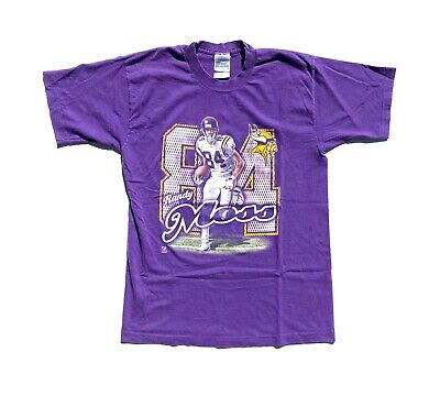 Vintage 90's Pro Player Randy Moss Minnesota Vikings Single Stitch T-Shirt L-XL
