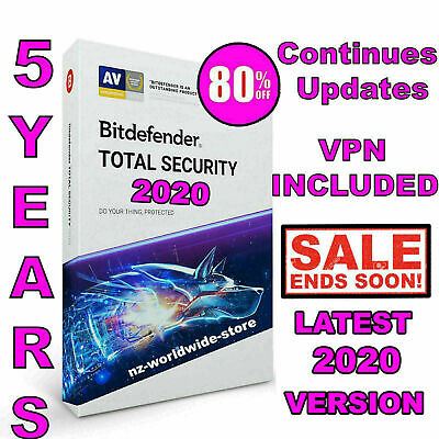 Bitdefender Total Security 2020 -5 Years- Single Device Activation