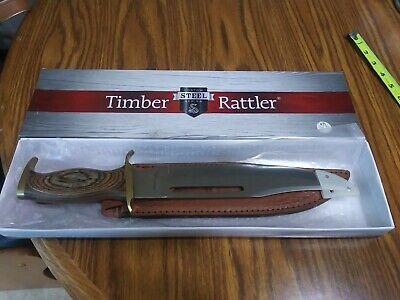 "TIMBER RATTLER Bowie Hunter Fixed Blade Knife TR88 Full Tang 15 1/4"" - Blade 10"""