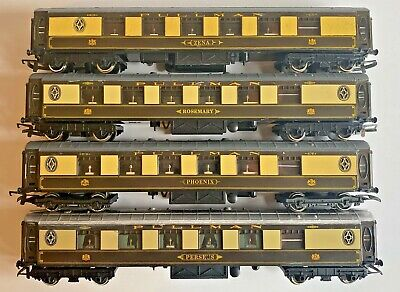 """Hornby OO Gauge 3 Pullman Coaches /""""Ibis/"""" 93/"""" /& /""""Lucille/"""" NEW//Unboxed /""""CAR No"""