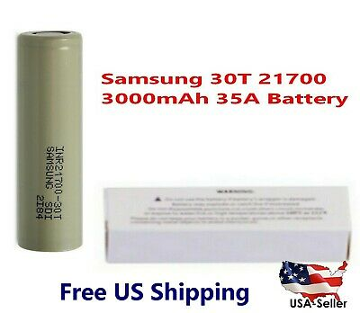 Samsung INR21700-30T 35A 3000mAh Rechargeable High Drain 3.7V 21700 Battery NEW
