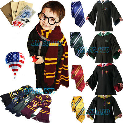 *Robe+Tie+Scarf* Harry Potter Costume Gryffindor Halloween Cosplay Party Xmas US