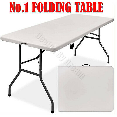 Catering Camping Heavy Duty Folding Trestle Table Picnic BBQ Party 4ft 5ft-Cheap