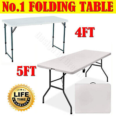 6Ft Heavy Duty Folding Table Portable Plastic Camping Garden Party Catering New
