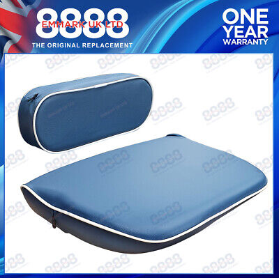 FORDSON DEXTA,MAJOR,SUPER//POWER MAJOR TRACTOR SEAT CUSHION SET BLUE//WHITE