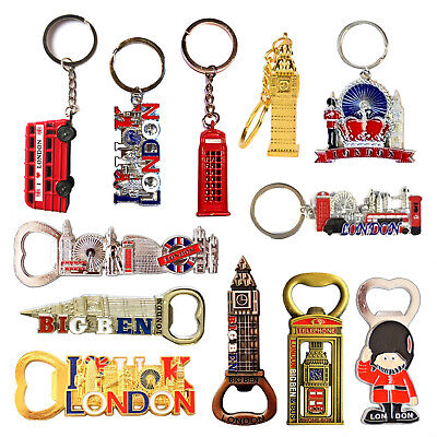 I Love London Keyring Magnets British England Souvenirs Key chain fridge magnet