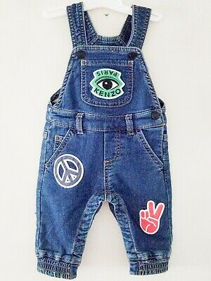 Kenzo Kids Paris Overalls Peace Sign 3M