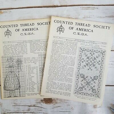 2 Counted Thread Society Of America Newsletters Vintage May 1977 May 1978