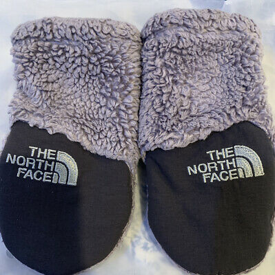 North Face Baby Infant Sz XS Gloves Mittens Gray Soft Warm