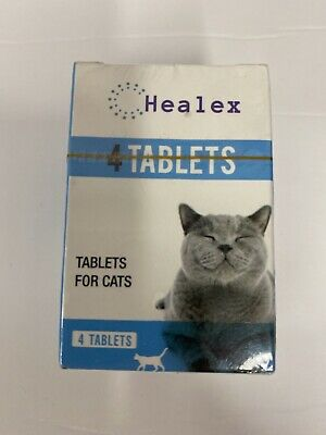 Healex Tablets For Cats Intestinal Cleanse Dewormer Alternative 4 Tablets