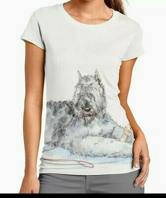 New Bouiver des Flandres Dog Ladies t-shirt blouse new large free ship only 1