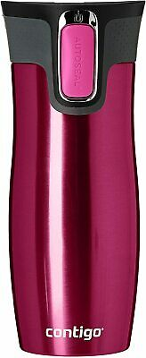 Contigo West Loop Autoseal Travel Mug 470ml Steel Spill Free Hot & Cold Drinks