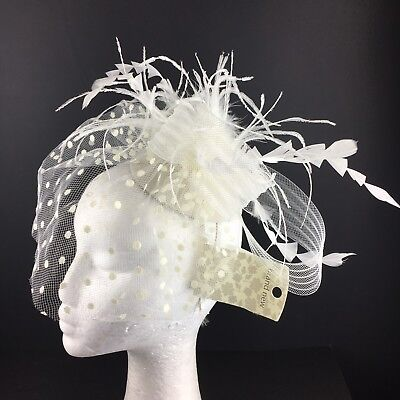 Cream Off White Fascinator Bnwts