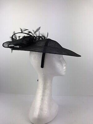 Ladies Black Fascinator  (343)