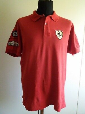 Ferrari Team Marlboro polo shirt by Hugo Boss Sports red Vintage 90's Very Rare