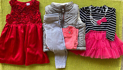 Baby Girl  Mixed Lot 5 Pcs Size 18 Months (See Pictures)