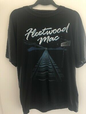 Fleetwood Mac Vintage 1980 Tour T Shirt Size L Large Black