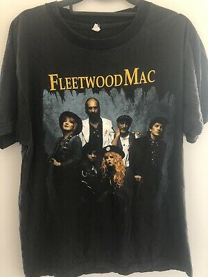 Fleetwood Mac Vintage 1990 T Shirt Size L Large Black
