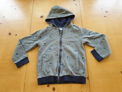 Mayoral Designer Boy's Grey Hoodie Jacket Size 7 - 8 Years