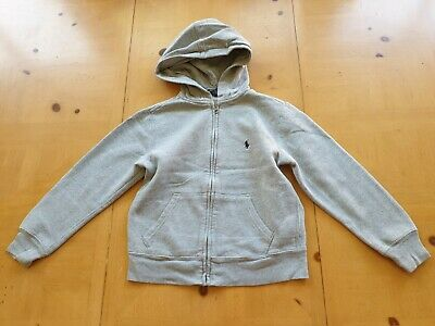 Ralph Lauren Designer Boy's Grey Zip Through Hoodie Jacket Size 7 - 8 Years