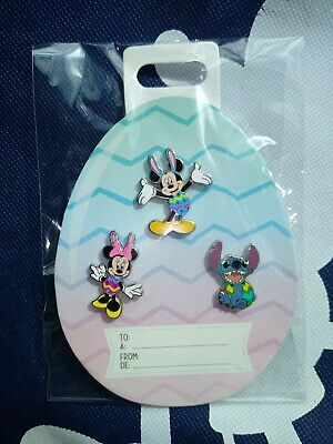 Disney 2020 Easter Pin Set Mickey Mouse Minnie Mouse Stitch Pin Trading Official