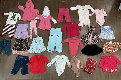 LOT Of Girls Clothes Size 6-12 Months