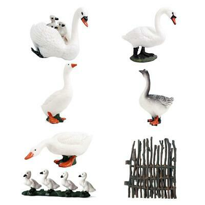 Collectible Animal Figurines Swan Miniatures Toy Home Ornaments I2G2 B2D5