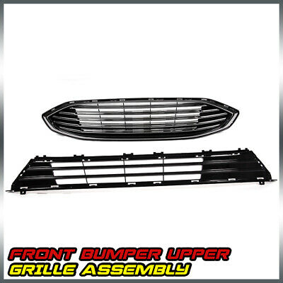 Front Bumper Upper & Lower Grille Assembly For FORD FUSION 2017 2018
