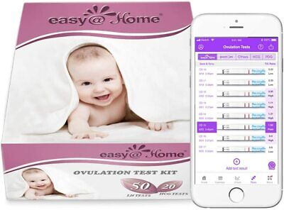 Easy@Home 50 x Ovulation Test Strips and 20 x Pregnancy -...