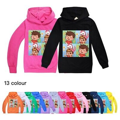 Kids Boys Girls Flamingo Flim Flam Hoodie Jumper Sweater Youtube Tops Xmas Gift