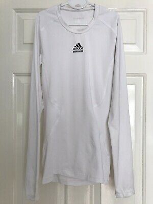 Adidas TechFit Long Sleeved Top (base layer) - White, Size XS