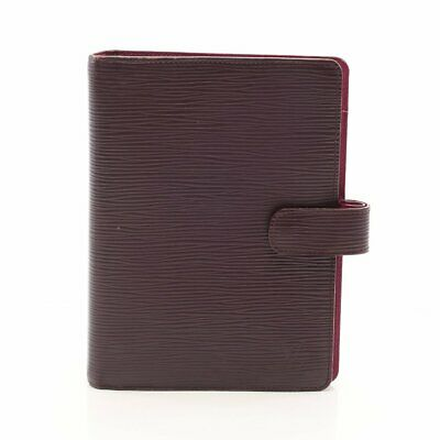 LOUIS VUITTON agenda MM epi notebook cover leather Cassis